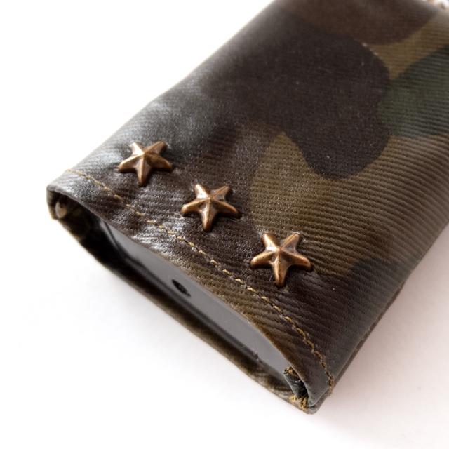 バッグチャーム(迷彩 国旗 アメリカ USA)スタッズアップ