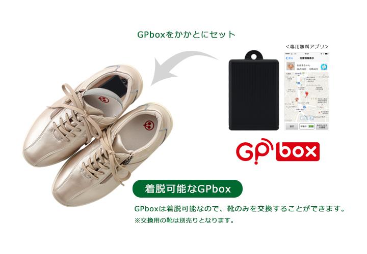 着脱可能なGPbox(超小型GPS端末)